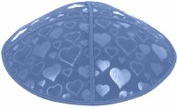 Wedgewood Blind Embossed Hearts Kippah without trim