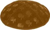 Luggage Blind Embossed Roses Kippah without trim