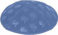 Wedgewood Blind Embossed Roses Kippah without trim
