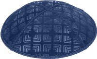 Dark Royal Blind Embossed Kippah without trim