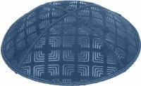 Denim Blind Embossed Kippah without trim
