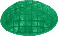 Emerald Blind Embossed Kippah without trim