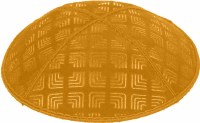 Gold Blind Embossed Kippah without trim