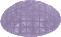 Lavender Blind Embossed Kippah without trim