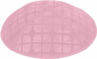 Light Pink Blind Embossed Kippah without trim