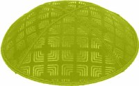 Lime Blind Embossed Kippah without trim
