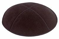 Black Suede Kippah Extra Small