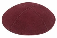 Burgundy Suede Kippah Medium