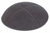 Dark Gray Suede Kippah Extra Small