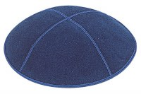 Dark Royal Suede Kippah Medium