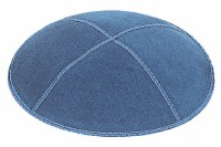Denim Suede Kippah Extra Small