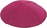 Fucshia Suede Kippah Medium