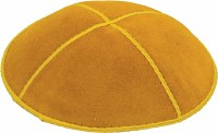 Gold Suede Kippah Medium