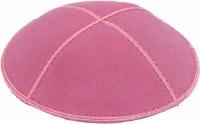 Hot Pink Suede Kippah Medium