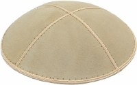 Ivory Suede Kippah Medium