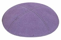 Lavender Suede Kippah Medium