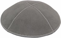 Medium Grey Suede Kippah Medium