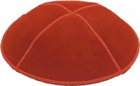 Orange Suede Kippah Medium