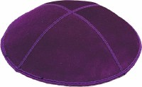 Purple Suede Kippah Medium