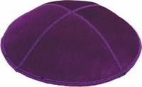 Purple Suede Kippah Medium