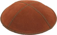 Rust Suede Kippah Medium