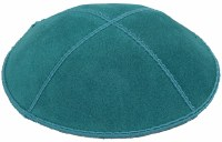 Teal Suede Kippah Size Small