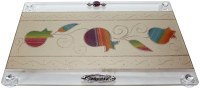 Challah Tray on Legs Rainbow Pomegranate Design