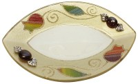 Glass Dish Applique - Rainbow Pomegranate