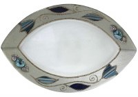 Glass Dish Eye Shape Applique Ocean Tulip