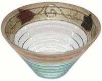 Glass Dish Round Deep Shape Applique - Brown Tulip