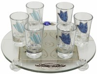 Liquor Set Glass Tulip Ocean