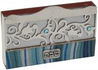 Match Box Cover Lazer Cut Ocean Blue Design