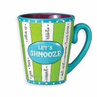Let's Shmooze Handpainted Ceramic Mug