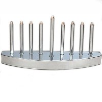 Electric Menorah Low Voltage Silvertone