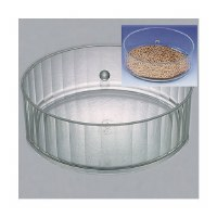 Round Matzah Box with Cover Lucite Ridged Design 14""