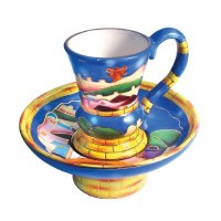 Mayim Achronim Ceramic Multi-Colored Jerusalem Design