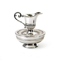 Mayim Achronim Silverplated Striped Design Accent