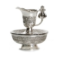 Silverplated Mayim Achronim Pomegranate Design