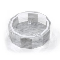 Lucite Matzah Box Hexagon Marble Color