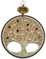 Wall Hanging Tree of Life Wooden Circle Shape