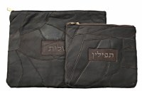 Tallis and Tefillin Set Brown Genuine Leather