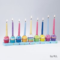 Candle Menorah Cupcakes Design