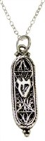 Silver Mezuzah Necklace #MJB1549BC