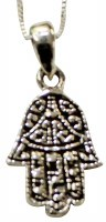 Silver Hamsa Necklace #MJB2301