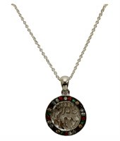 Silver Shema Necklace Necklace With Multi Color Stones Stones #MJB6210