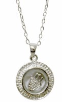 Silver Circle Hamsa Magnetic Necklace #MJB6306