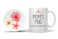 Mom Mug with Matching Coaster Mom's Mug a Gift from your Favorite Child... I am your Reward for Putting up with my Siblings 11oz