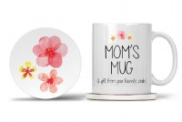 Mom Mug with Matching Coaster Mom's Mug A Gift From Your Favorite Child. I Know You Love Me Best:) 11oz