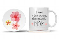 Mom Mug with Matching Coaster If Found in the Microwave, Please Return to Mom 11oz