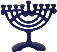 Candle Menorah Aluminum Creative Rounded Design 6""